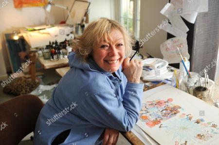 Babette Cole in her studio.
