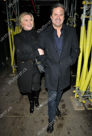 Editorial picture of Tina Hobley and Oliver Wheeler out and about, London, UK - 08 Dec 2020