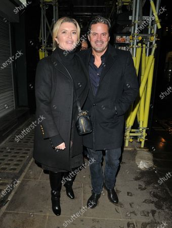 Editorial image of Tina Hobley and Oliver Wheeler out and about, London, UK - 08 Dec 2020