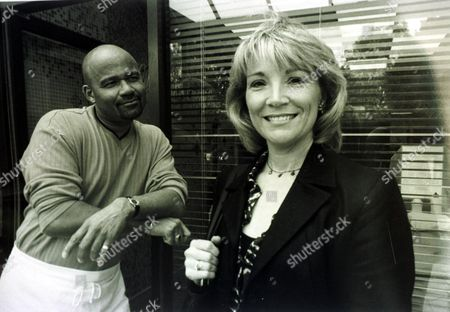 Actress Kim Taylforth Sister Of Eastenders Television Star Gillian Taylforth. Kim Is Joining The Cast Of Television Prog : Brookside. This B/w Still From Brookside Shows Her With Actor Who Plays Chip Shop Owner Mick In The Soap.