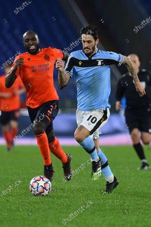 Eder Balanta of Club Brugge,Luis Alberto of Lazio,SS Lazio v Club Brugge,Champions League