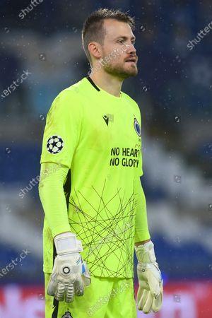 Simon Mignolet of Club Brugge,SS Lazio v Club Brugge,Champions League