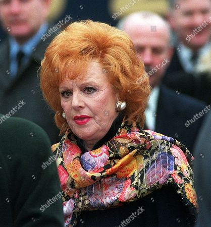 Funeral Of Coronation Street Actress Jill Summers Who Played Phyllis Pearce. Actress Barbara Knox After The Funeral Service In Eccles M/c.