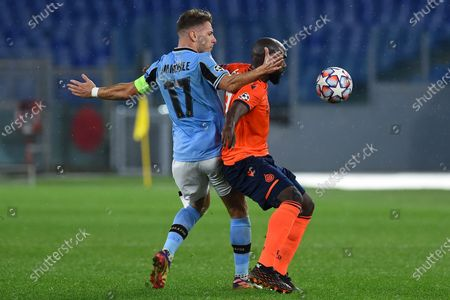 Ciro Immobile of Lazio, Eder Alvarez Balanta of Club Brugge