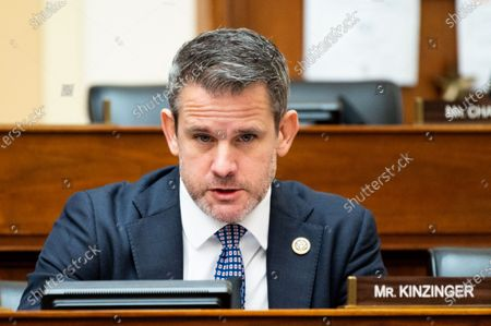 U.S. Representative Adam Kinzinger (R-IL) speaks at a hearing of the House Foreign Affairs Committee.