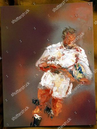 Rugby World Cup Painting: Jonny By Sarah Sanderson.