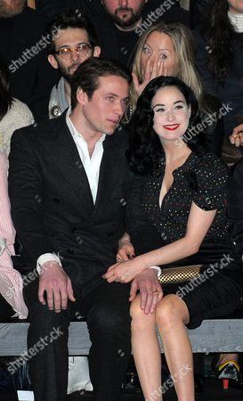 Louis-Marie de Castelbajac and Dita Von Teese