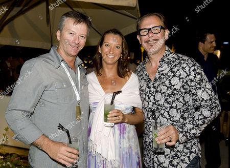 Steve Waugh, Layne Beachley and Husband Kirk Pengilly