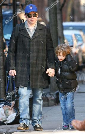 Matthew Broderick and son James Wilke
