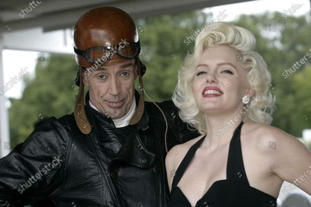 2007 Goodwood Revival Press Day.  Goodwood, West Sussex. 18th July 2007.  George Formby and Marilyn Monroe. World Copyright: Gary Hawkins/LAT Photographic.  Ref: Digital Image Only.