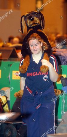 Stock Image of Crufts 2006. There May Be Thousands Of Dogs At Crufts This Year But Keri Smith (16) Of Tewkesbury Managed To Buy This Toy.