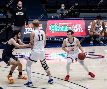 Moraga, CA U.S.A. St. Mary's Gaels guard Quinn Clinton #2 brings the ball up court during the NCAA Men's Basketball game between UTEP Miners and the Saint Mary's Gaels 73-61 win win at McKeon Pavilion Moraga Calif. Thurman James / CSM
