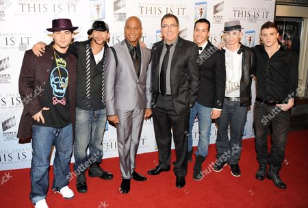 Travis Payne, Kenny Ortega and Michael Jackson dancers.