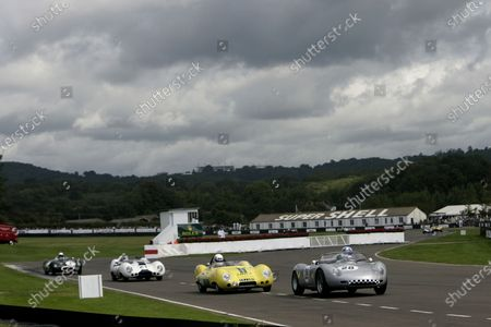 2007 Goodwood Revival Meeting.  Goodwood, West Sussex. 1st - 2nd September 2007.  Madgwick Cup.  Burkhard von Schenk - Porsche 718 RS61 leads Joe Twyman and Murray Smith in the Lotus Climax 15s. World Copyright: Gary Hawkins/LAT Photographic