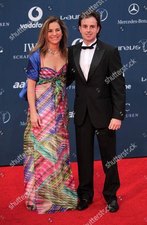 Stock Image of Arantxa Sanchez-Vicario and husband Jose Santacana