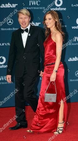 Mika Hakkinen and girlfriend Marketa Kromatova