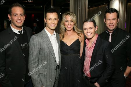 Toby Allen, Andrew Tierney, Jessica St. Clair, Phil Burton and Michael Tierney
