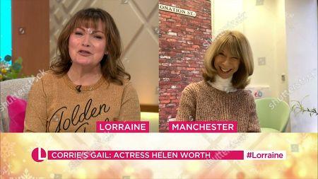 Lorraine Kelly and Helen Worth