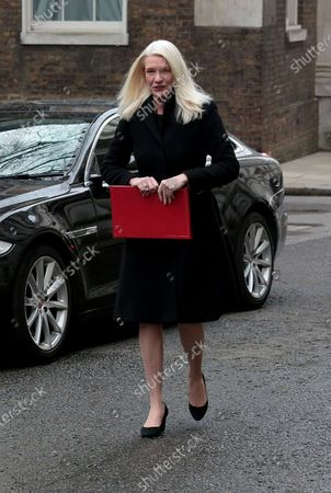 Amanda Milling. Political arrivals at Downing Street for todays Cabinet Meeting