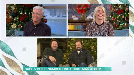 Stock Image of Phillip Schofield, Holly Willoughby, Michael Ball and Alfie Boe