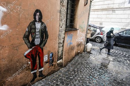 Editorial picture of Mural dedicated to John Lennon, Rome, Italy - 08 Dec 2020