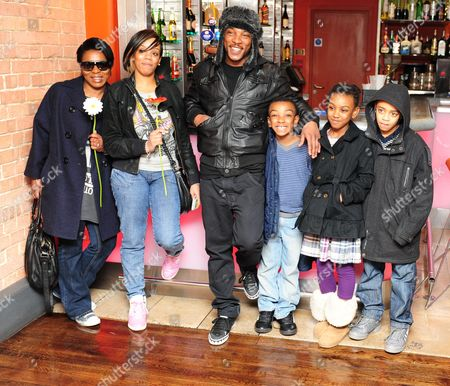 Ashley Walters and family: mother Pat, wife Natalie Williams, Ashley Walters, children Pamiro, China, Shayon