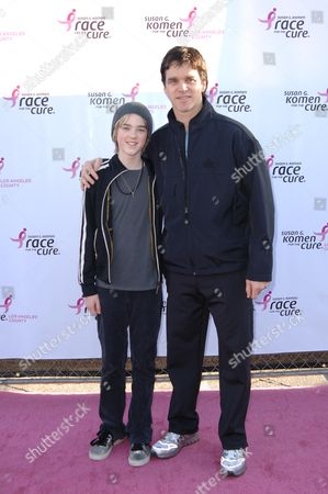 Stock Photo of Jesse Robitaille & father Luc Robitaille