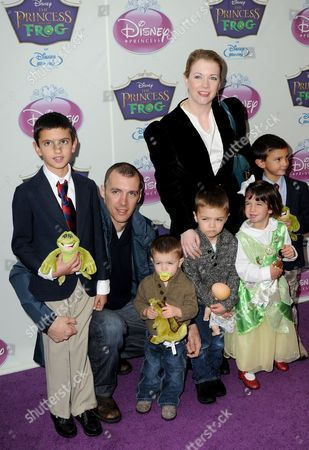 Melissa Joan Hart, husband Mark Wilkerson, and sons Mason and Braydon