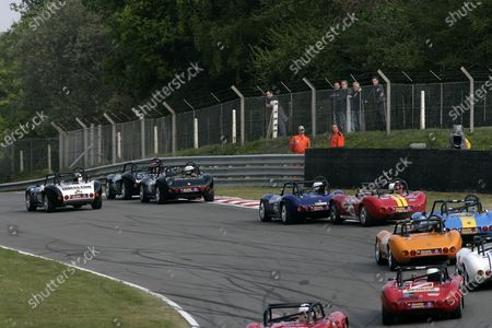 2007 Ginetta Championship. Brands Hatch, Great Britain. 27th - 29th April 2007. Joe Osborne leads the field onto the GP Loop. World Copyright: Gary Hawkins/LAT Photographic Ref: Digital Image Only.