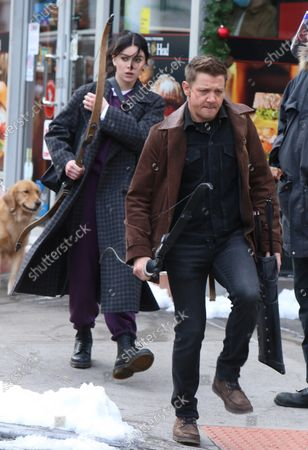 Editorial photo of 'Hawkeye' on set filming, Times Square, New York, USA - 08 Dec 2020