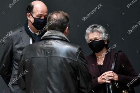 Stock Picture of Louis Giscard d'Estaing, son of Valery Giscard d'Estaing (L) and Anne-Aymone Giscard d'Estaing, wife of the late former French President Valery Giscard d'Estaing speak at the Musee d'Orsay in Paris, France, 09 December 2020 on the national day of mourning for the former president. Valery Giscard d'Estaing died from Covid-19 aged 94, surrounded by his family on 02 December at the family estate. Giscard governed for a single seven-year term from 1974 to 1981.