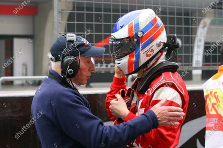 Stock Photo of 15.04 2007 Shanghai, China,  Tony Clements, Seat Holder of A1Team Great Britain and Sean McIntosh, Driver of A1Team Canada - A1GP World Cup of Motorsport 2006/07, Round 10, Shanghai, Sunday Race 1 - Copyright A1GP Team Canada - Copyright free for editorial usage