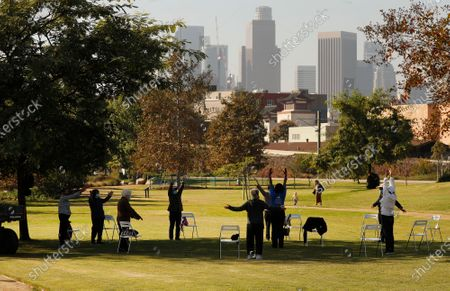 Editorial photo of A company funded by former Dodgers owner Frank McCourt has proposed a $125 million gondola lift that would fly customers over Los Angeles State Historic Park from Union Station to Dodger Stadium and activists are weighing in, Los Angeles State Historic Par