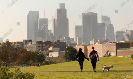 Editorial image of A company funded by former Dodgers owner Frank McCourt has proposed a $125 million gondola lift that would fly customers over Los Angeles State Historic Park from Union Station to Dodger Stadium and activists are weighing in, Los Angeles State Historic Par