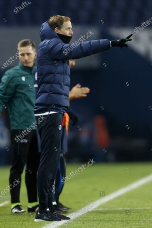 Paris Saint Germain's head coach Thomas Tuchel gestures during the UEFA Champions League group H soccer match between Paris Saint-Germain (PSG) and Istanbul Basaksehir at the Parc des Princes Stadium in Paris, France, 09 December 2020.