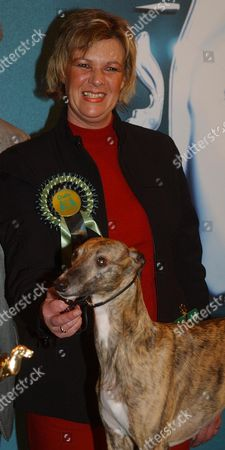 Stock Picture of Lynn Yacoby-wright With Crufts Winner Deedee. Even Their Owners Would Admit They Are Far From Being The Most Glamorous Members Of The Canine World. But Last Night Whippets Were Most Definitely The Top Dog After One Was Named Champion At Crufts. Four-year-old Deedee-or Cobyco Call The Tune To Use Her Grander Sounding Full Name-beat Six Other Competitors To Be Named Best In Show. It Is The Most Prestigious Title That Can Eb Won At The Four-day Event Which Is The Largest Dog Show In The World. Deedee Seemed To Take Her Vitory In Her Stride Although There Was A Delighted Smile Form Her Owner Lynn Yacoby-right Of Mellor Stockport.cruftd Finalist/ Winner Of The 'hound' Section 'dee Dee ' With Lynn Jacoby-wright. Pix Bould...nws