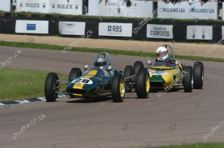 2005 Goodwood Revival Meeting Goodwood, West Sussex. 16th - 18th September 2005 Chichester Cup Chris Locke (Lotus-Ford 27) leads Jorgen Carlsson (Merlyn-Ford Mk3). World Copyright: Jeff Bloxham/LAT Photographic Digital Image Only