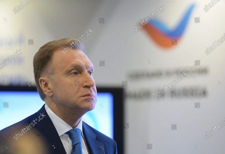 """The International Export Forum """"Made in Russia - 2020"""" was held at the International Multimedia Press Center of the MIA """"Rossiya Segodnya"""". Igor Shuvalov, Chairman of the State Corporation Bank for Development and Foreign Economic Affairs (Vnesheconombank), visiting an exhibition within the framework of an export forum, which presents high-tech goods and services of Russian exporters in the field of medicine, information technology and industry."""