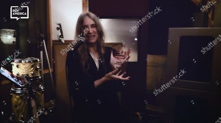 Stock Image of Patti Smith accepting her Honoree Audible Literary Service Award