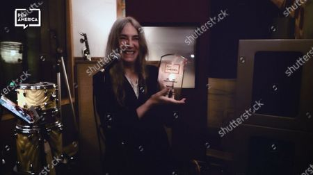 Patti Smith accepting her Honoree Audible Literary Service Award