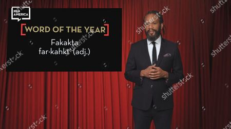 Stock Photo of Masters of Ceremonies Franklin Leonard for the PEN awards.