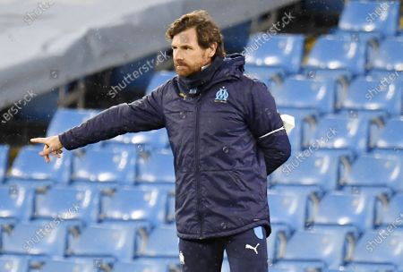 Olympique Marseille's manager Andre Villas Boas during the UEFA Champions League group C soccer match between Manchester City and Olympique Marseille in Manchester, Britain, 09 December 2020.
