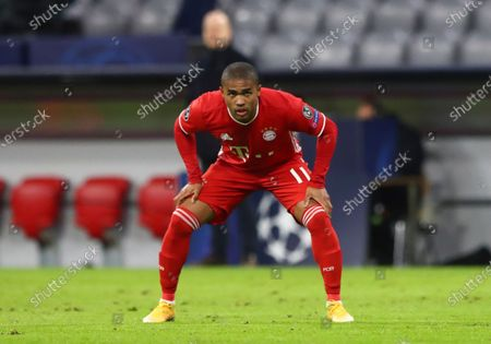 Bayern's Douglas Costa during the Champions League Group A soccer match between Bayern Munich and Lokomotiv Moscow at the Allianz Arena in Munich, Germany