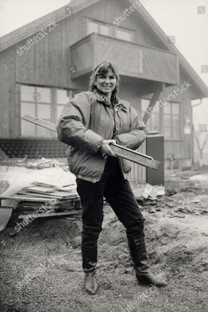 Actress Julie Ege (died April 2008) Pictured At Her Home In Hokksund Norway.