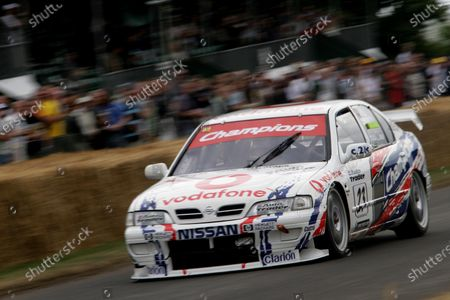 Stock Picture of 2006 Goodwood Festival of Speed. Goodwood Estate, West Sussex. 7th - 9th July 2006. ANTHONY READ AT SPEED IN THE VODAPHONE NISSAN PRIMERA. World Copyright: Gary Hawkins/LAT Photographic.