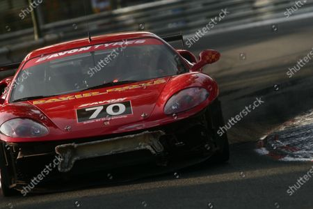 2006 British and French GT Championship. Pau, France. 2nd - 5th June. Calum Lockie/ David Dove (Ferrari 360 Modena). Action. World Copyright: Drew Gibson/LAT Photographic. Ref: Digital Image Only.