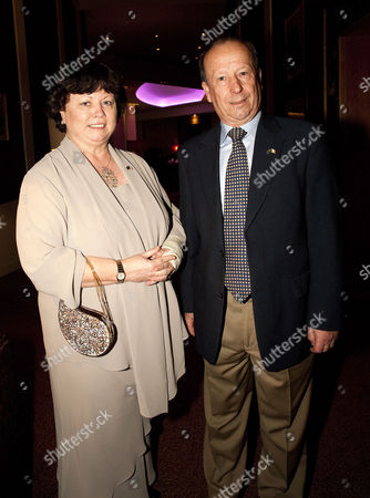 Stock Photo of Irish Health Minister Mary Harney and husband Brian Geoghegan