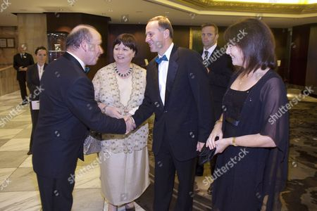 Editorial photo of Irish Health Minister Mary Harney at a dinner with husband Brian Geoghegan and New Zealand Prime Minister John Key and his wife Bronagh, Auckland, New Zealand - 13 Mar 2010