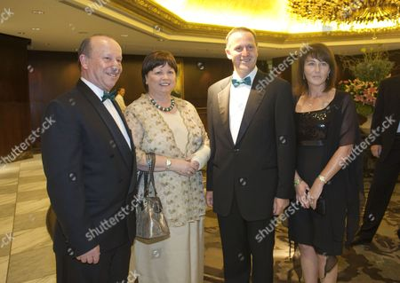 Editorial picture of Irish Health Minister Mary Harney at a dinner with husband Brian Geoghegan and New Zealand Prime Minister John Key and his wife Bronagh, Auckland, New Zealand - 13 Mar 2010
