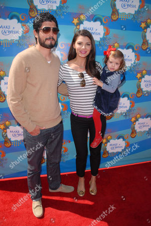 Ali Landry, Alejandro Gomez Monteverde and daughter